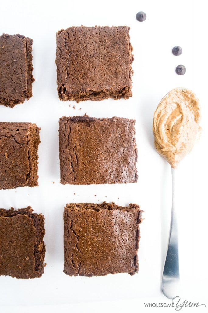 Fudgy Almond Butter Brownies (Paleo, Low Carb) | Wholesome Yum - Natural, gluten-free, low carb recipes. 10 ingredients or less.