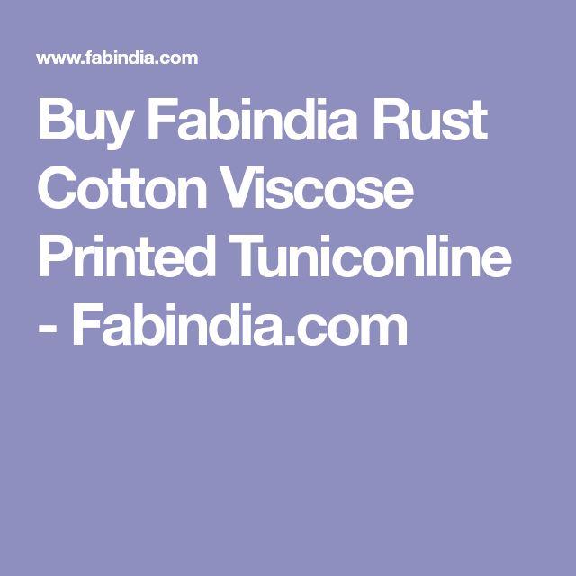 Buy Fabindia Rust Cotton Viscose Printed Tuniconline - Fabindia.com