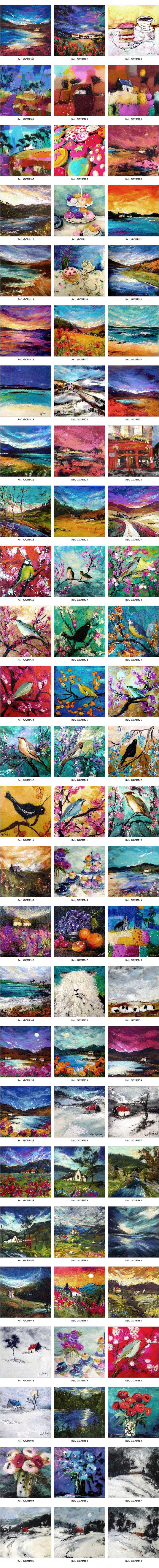 Moy Mackay Cards - Felt Painting