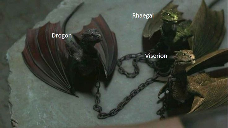 Game of Thrones dragons<<Cute little babies about to commit their first murder for their mommy.