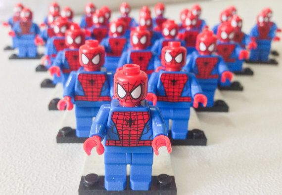 Sale 50% OFF + Free Ship! 30 Pcs Lego® SPIDERMAN Minifigurine, Lego Party Favor Giveaways, Lego Party Avengers, Marvel Superhero Party Favor on Etsy, $150.00