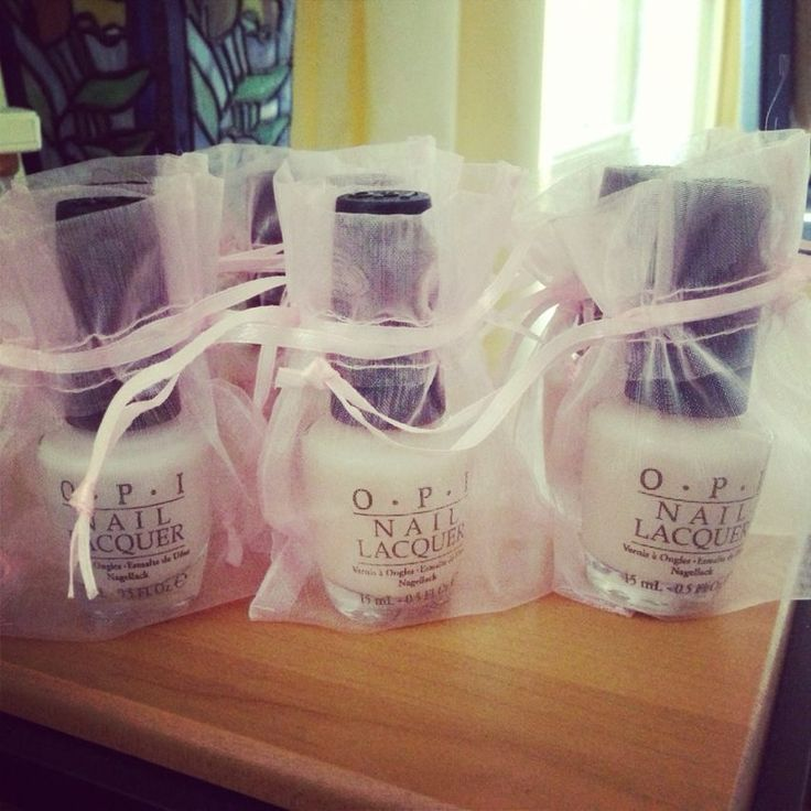 bridal shower favors nail polish in wedding colors