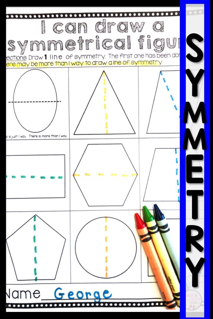 Pin On Abs Free symmetry worksheets for kindergarten
