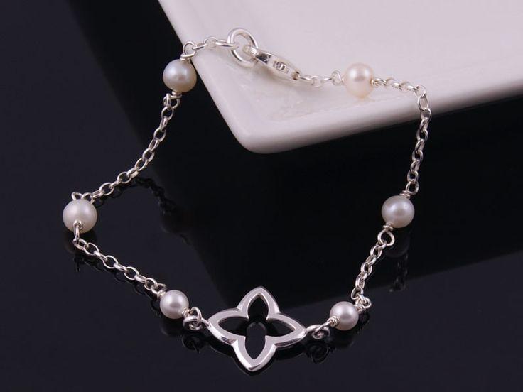 Delikatna bransoletka z białych pereł w Monle na DaWanda.com