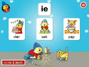 rompompomikleerletters app voor kinderen die leren lezen