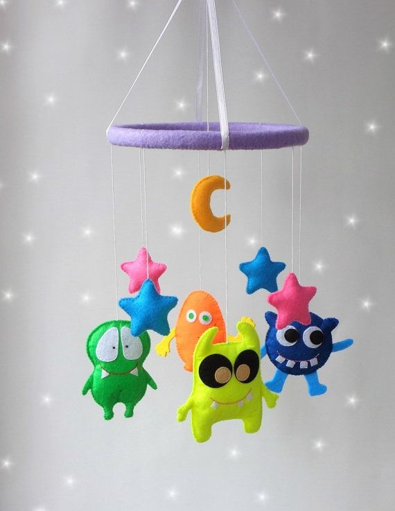 baby mobile-nursery mobile-baby crib mobile-felt by ZooToys