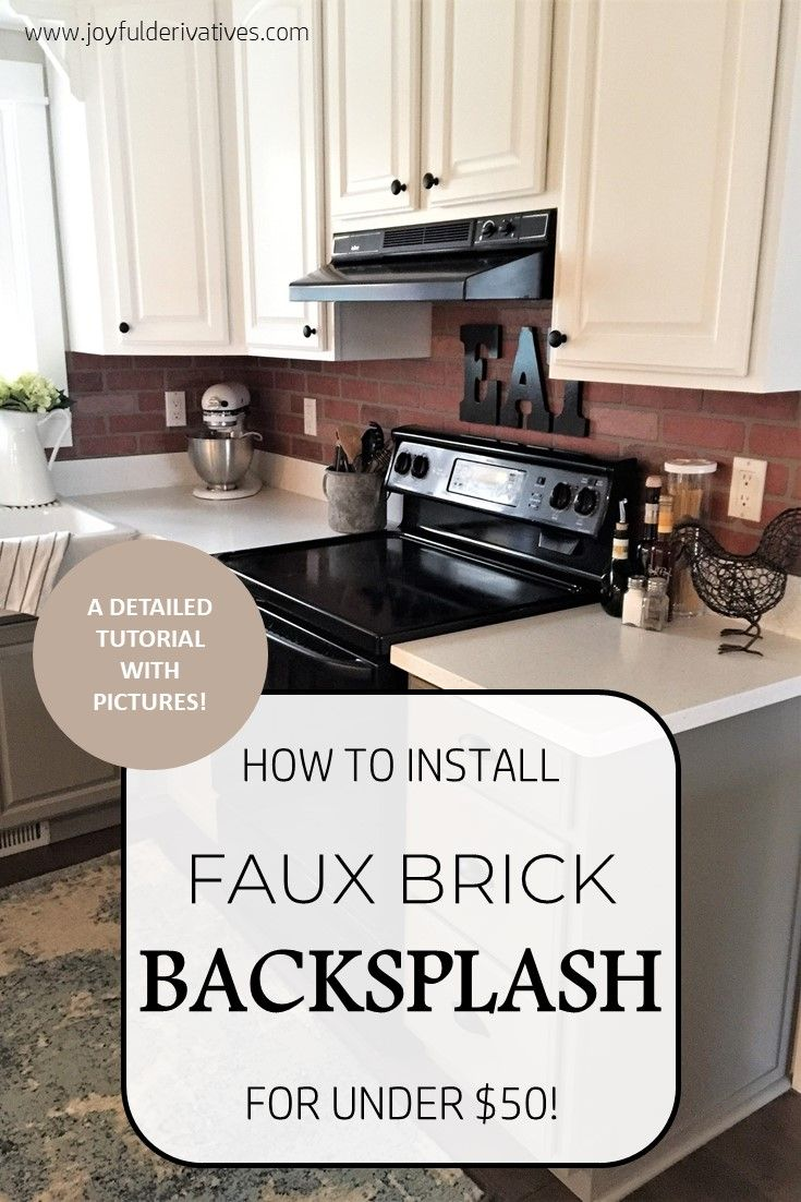 How To Install Faux Brick Backsplash In A Kitchen Faux Brick