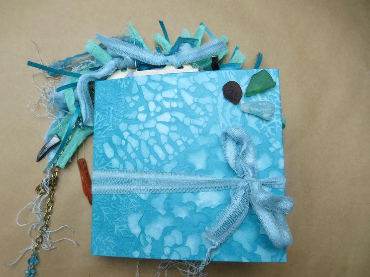 Beach Vacation/Handmade Junk Journal/Grad Gift/Mother's Day/Notebook/Handmade Ephemera/Surfboard/Flipflops/Beach Glass by Maroonmanx on Etsy  #mothersday #graduation #beach #vacation #junkjournals #maroonmanx