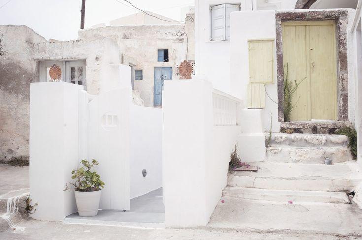 Megalochori, a village in the south of the greek island of Santorini.  Megalochori, greek architecture, greek villages, greek islands, cyclades islands, santorini, santorini villages, santorini houses