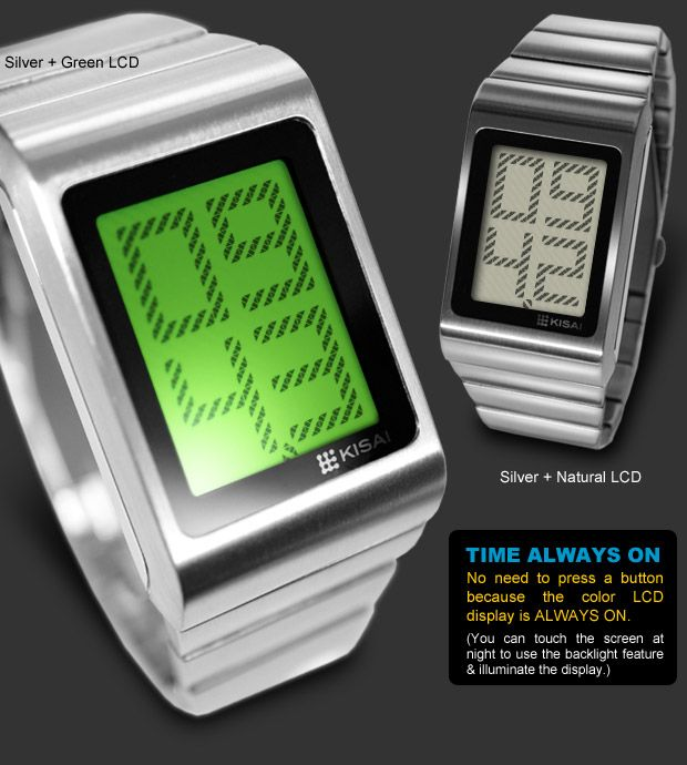 Optical Illusion Stainless Steel watches