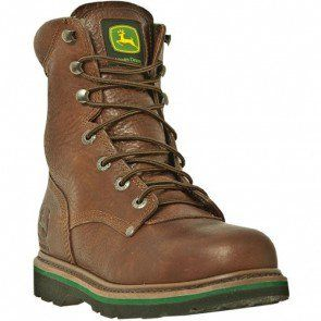 John Deere Men's Lace Up Safety Boots - Brown Walnut