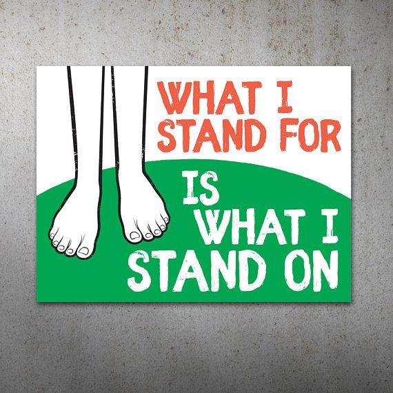 What I Stand For PRINTABLE Protest Poster | What I Stand On, Climate March, Climate Change, Trump Protest Sign