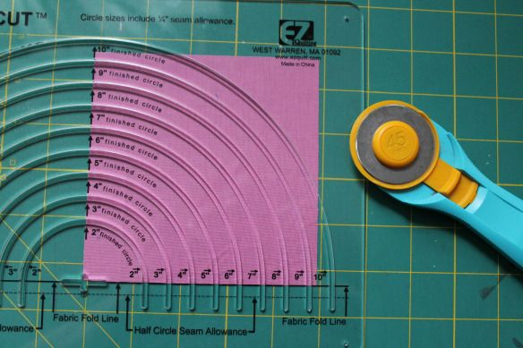 Circle Ruler For Drunkard S Path Tutorial Quilting