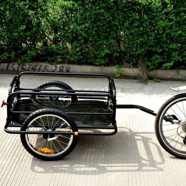 Folding Bicycle Cargo Trailer Utility Bike Cart Carrier