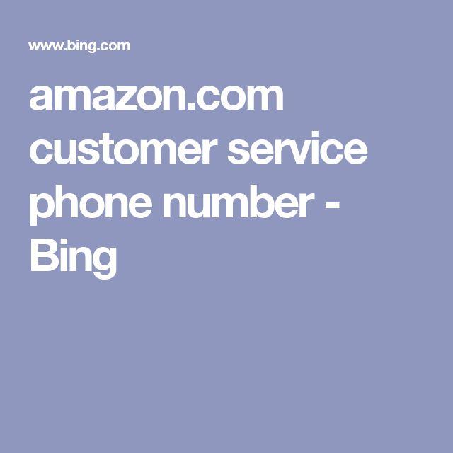 amazon.com customer service phone number - Bing