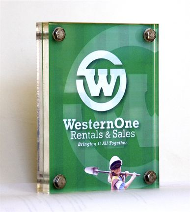Western One Launch Plaque