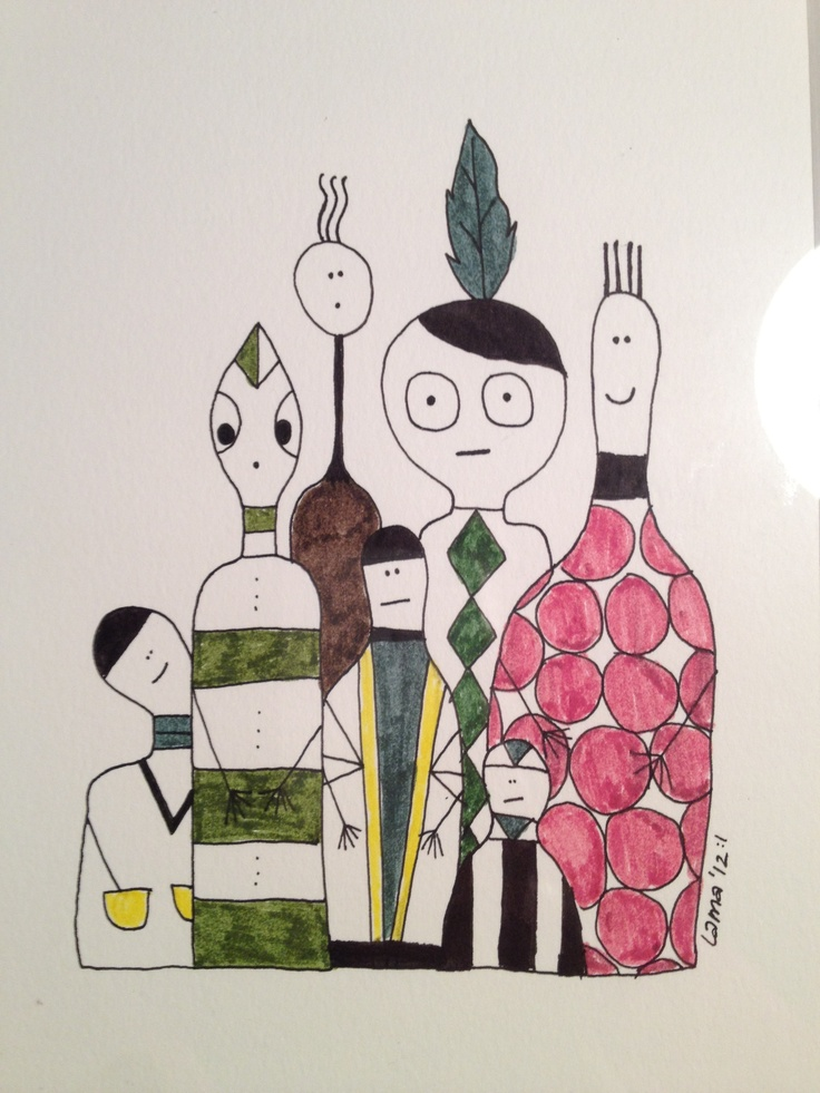 Natives. Drawn by Lisa Andersson