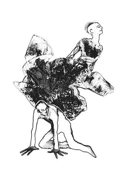 Illustration, collage, ink