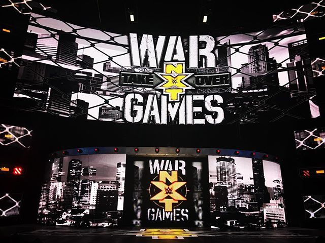 wwenxt The stage is set! We are ready, are you? #NXTTakeOver #WarGames begins in less than 2 hours--Only on @wwenetwork! Houston Toyota Center 2017/11/19 08:15:20