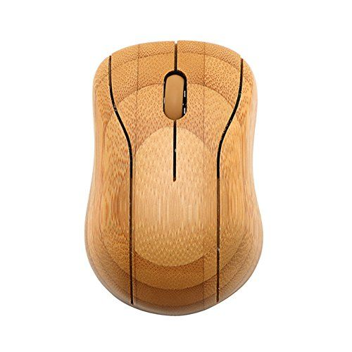 Dopobo Wireless Mouse Bamboo - Kabellose Maus aus Bambus Holz