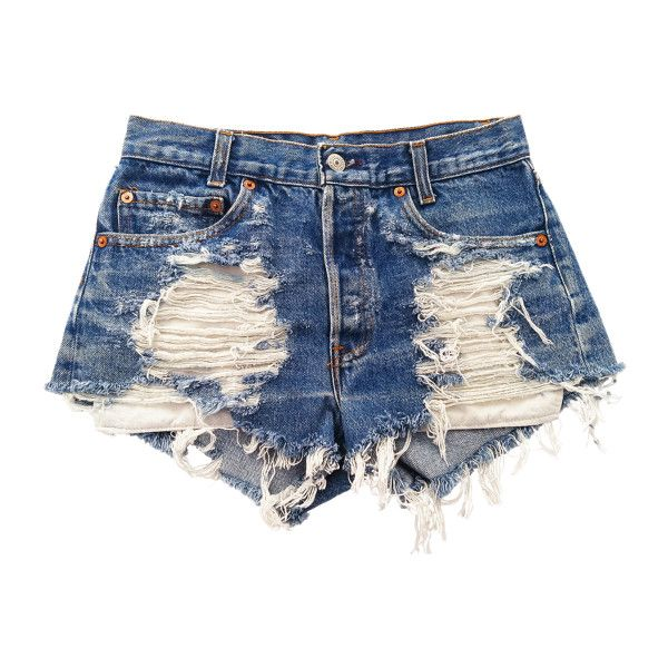 Vega shorts studded cut offs ($89) ❤ liked on Polyvore featuring shorts, bottoms, pants, short, short jean shorts, jean shorts, high-waisted denim shorts, denim shorts and ripped denim shorts