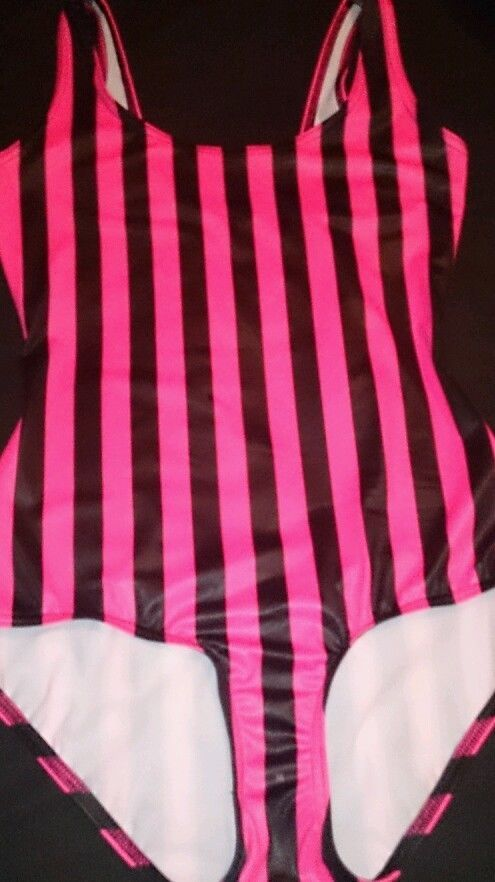Pink Beetlejuice swim