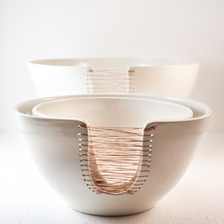 Ceramic Bowls and copper.