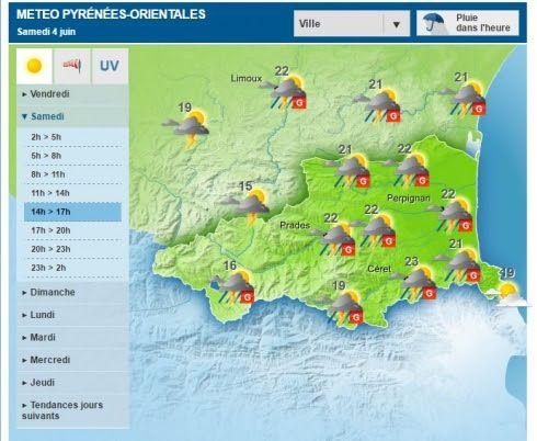 Risque de grêle annoncé ce samedi dans l'Aude et les Pyrénées-Orientales