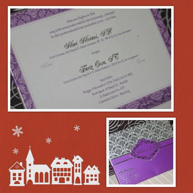 Happy Wedding for Wonderfull Couple ❣ ❦ Silmi Silviani, SH & Fariz Cesa, ST ❦ ~09 November 2014~ Info & Pemesanan Kartu Undangan Hub : 022-5223378/70706073 Jl. Pasirluyu Timur No. 155-157 Bandung... Cetak Cepat & Rapi, Harga Murah bs disesuaikan dgn budget, Desain dpt dirubah sesuai keinginan.. #kartu #undangan #pernikahan #samarista #wedding #invitation #card #hard #soft #cover #perkawinan #best #seller #cetak #cepat #murah #jasa #pesan #acara #khitanan #brosur #souvenir