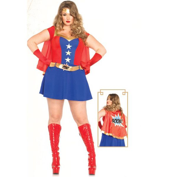 blue red 3 piece comic book girl plus sized costume ($64) ❤ liked on Polyvore featuring costumes, bluered, cartoon halloween costumes, blue costume, red costumes, superhero costumes and plus size superhero costumes