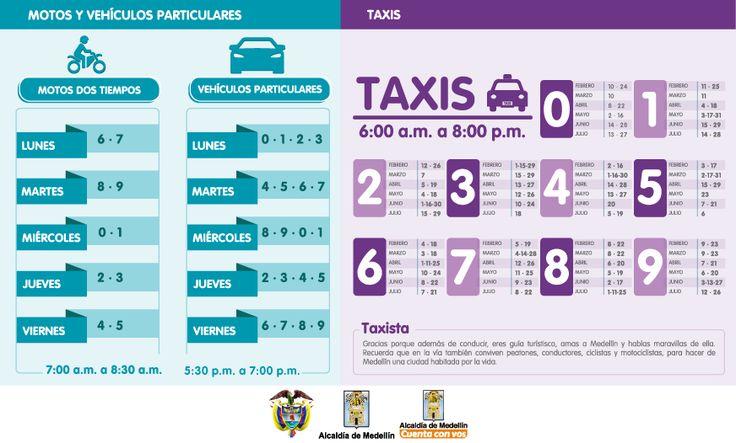 .:: AREA DE SEGUROS ::.: Nuevo pico y placa para Medellín para el primer tr...