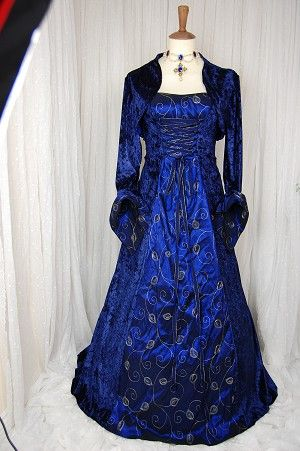 20 best images about medieval wedding on pinterest for Blue gothic wedding dresses