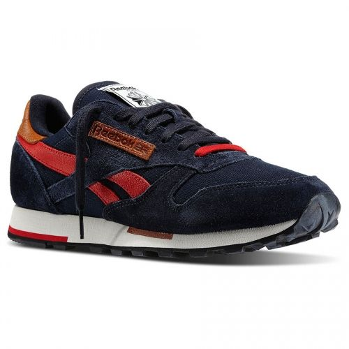 Reebok - CL Leather Utility (V55385) Navy / Red / Sandtrap / Black