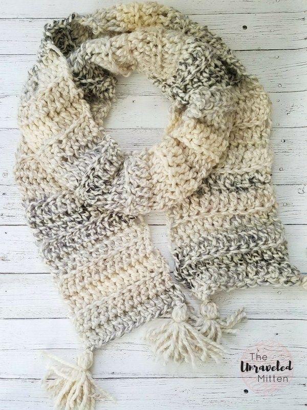 Easy Crochet Super Scarf Free Crochet Pattern Crochet Scarf