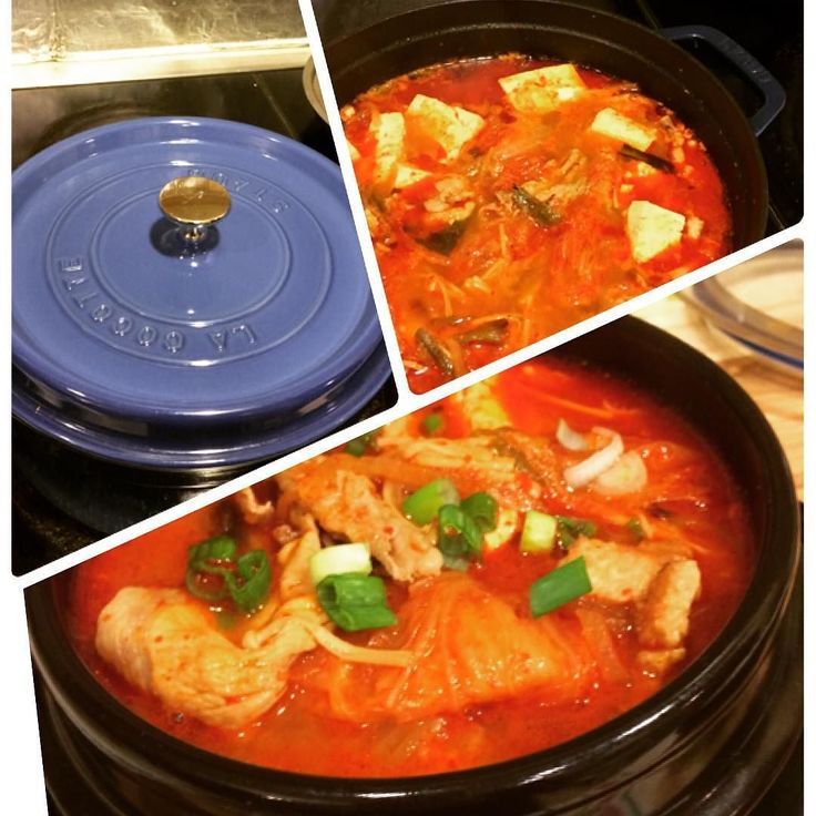 It's so cold in New Jersey I wanted to make something hot spicy and yummy to warm me up  . Kimchi Jigae(very spicy Korean stew w/ old kimchi pork belly and tofu) is the way to go . 毎日寒くて今日は一桁気温から上がらない辛さにとうとう耐えられなくて暖房つけてしまった . 温まる晩御飯って事で豚バラ肉と野菜と豆腐たっぷりの激辛キムチチゲ . ストウブ鍋使って全然オシャレじゃない韓国料理だけど長年信者だったルクルーゼ鍋と得意料理分野が全く違ってほんと買って良かった . #lowcarb #lowcarbdinner #kimchi #kimchijigae #koreanfood #lchf #dinner #instafood #foodpic #yummy #spicy #instadinner #keto #低糖質 #ケトジェニック #晩御飯 #韓国料理 #糖質制限 #キムチチゲ by…