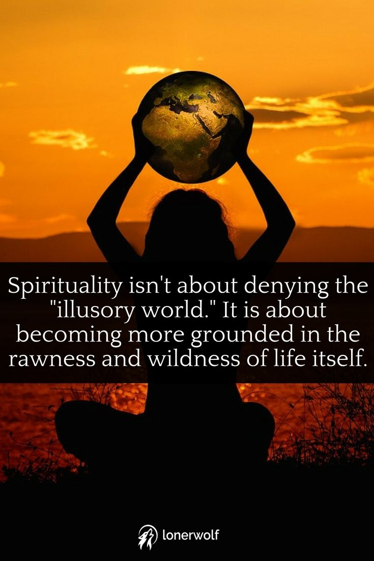 Spirituality isn't about transcending, it is about integration. It isn't an upwards path, it is an inwards path.
