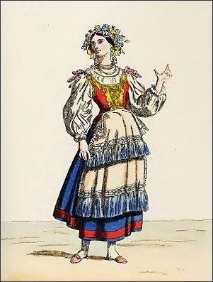 Национальные костюмы италии картинки