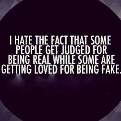 Real love is far better than fake love.