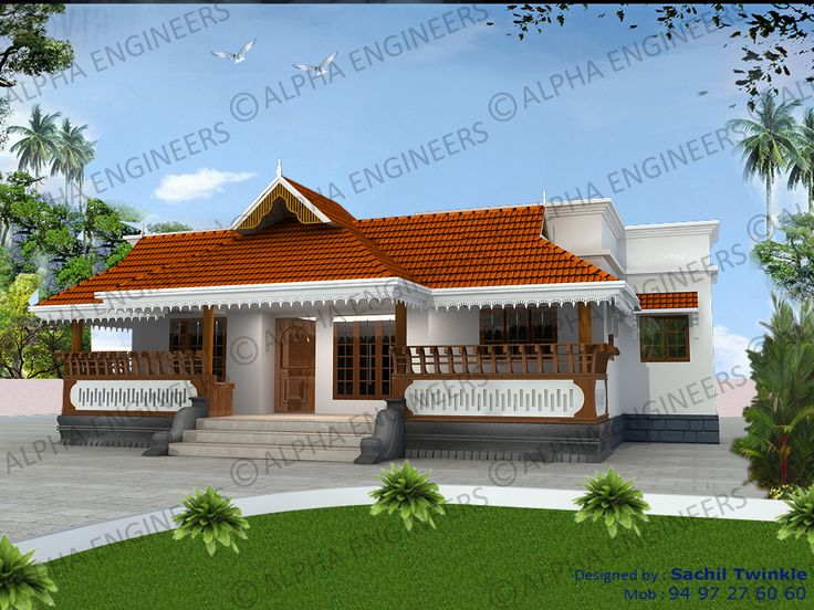 Kerala Style Single Stored Home Design. Traditional Kerala Style Home Plans  And Elevations. Part 39
