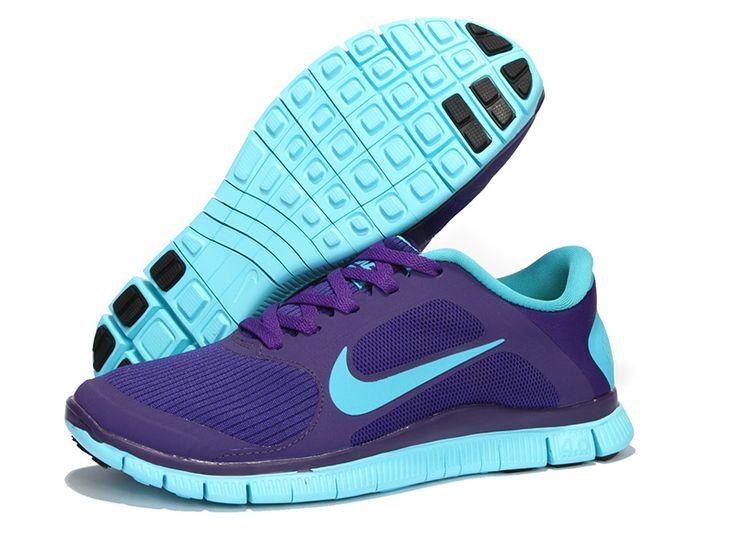 Nike Free Run 4.0 V3 Chaussures Des Femmes Respirent Coeur Pourpre