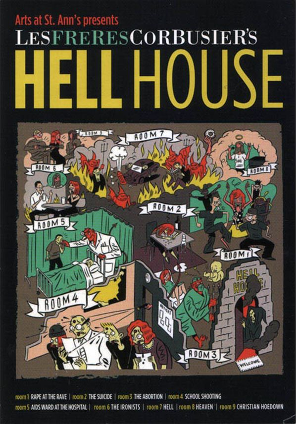 Hell House Publicity Postcard Illustration By Jason