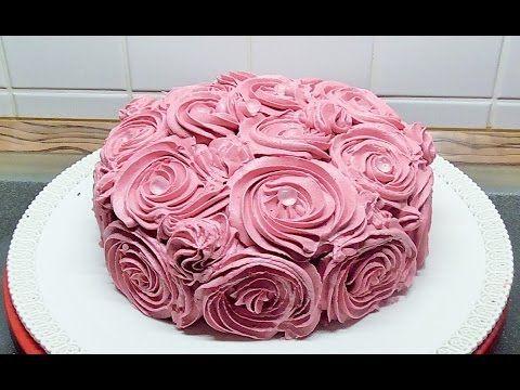 Geburtstag Torte Rosen Torte mit Butterkreme und Diamanten - YouTube