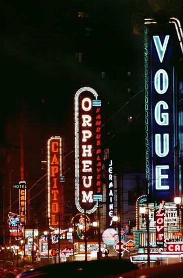 Three Theatres, Granville Street, Vancouver