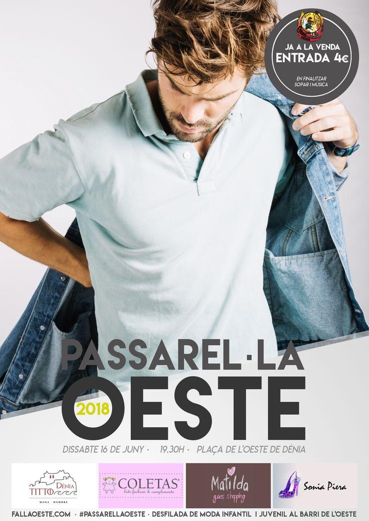 A les 19:30h el barri s'engalanarà amb la millor moda de la ciutat de la mà de la Passarel·la Oeste 2018! I al acabar tindrem sopar i música