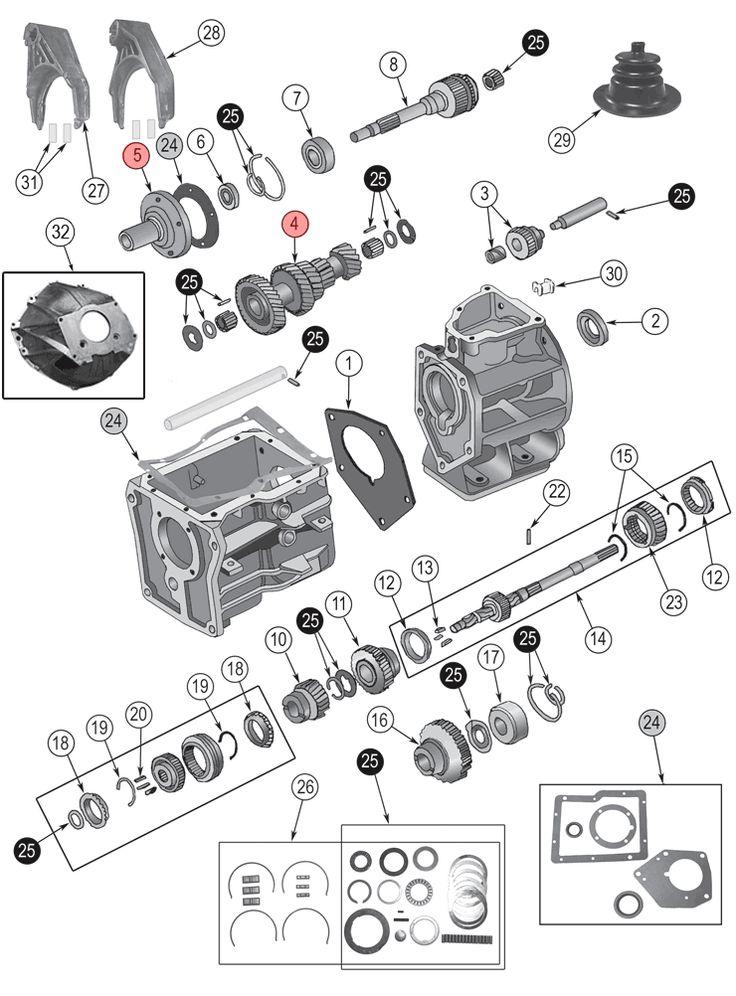 jeep cj transmission diagram
