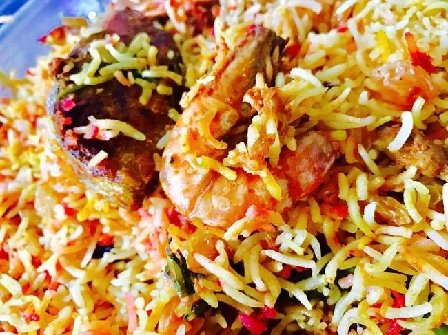 Resepi Nasi Briyani Seafood Udang Ikan Tenggiri Resepi Bonda Resep Masakan Malaysia Makanan Makanan Laut