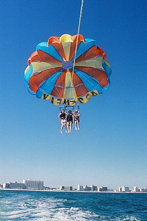 Ever parasailed? The dolphins are jumping along the resort area of Virginia Beach. Get the view from on high! #vaoutdoors