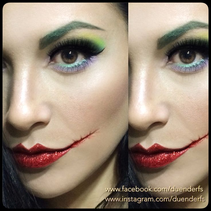 Halloween make up. The joker, Batman movie. Mehron make up.