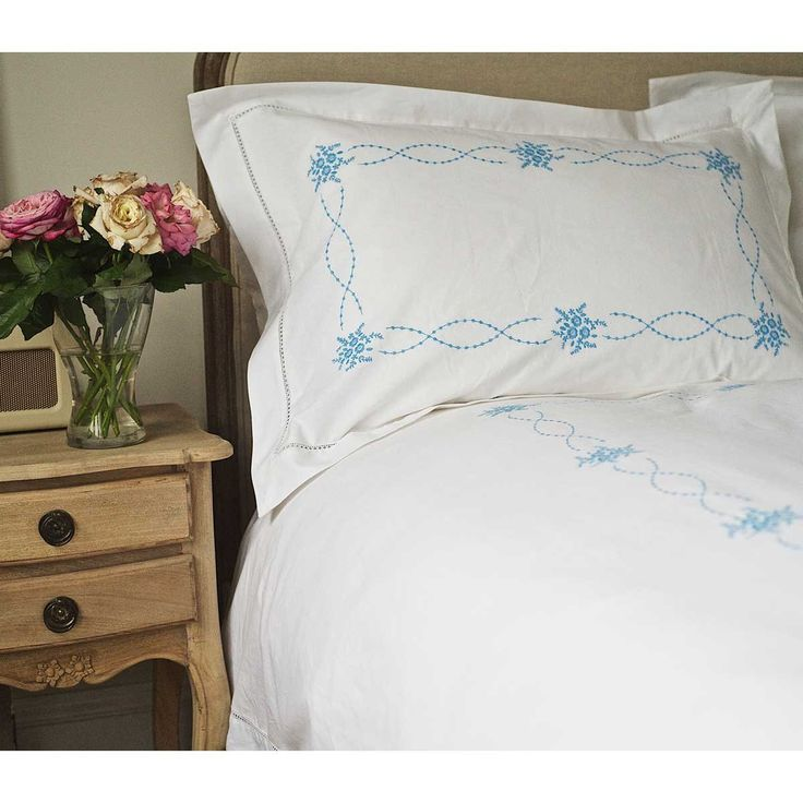 Wedding Gift List Companies : ... Stitch Bed Linen in Blue. French Bedroom Company. Wedding Gift List