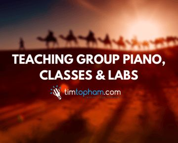 Teaching group piano classes and labs. #pianoteaching #grouppiano #groupteaching #piano #music